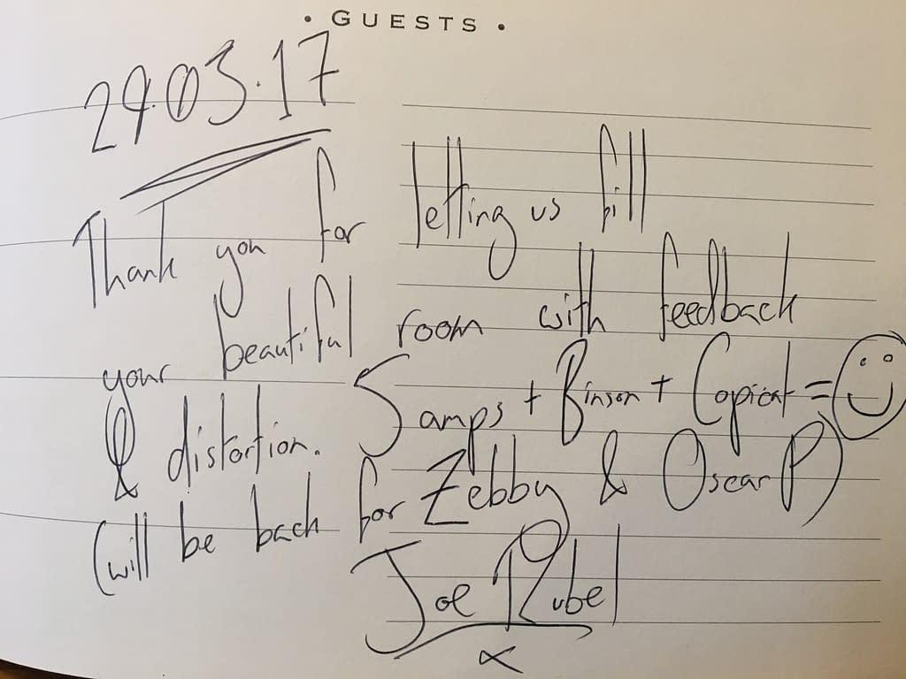 Joe Rubel Guestbook