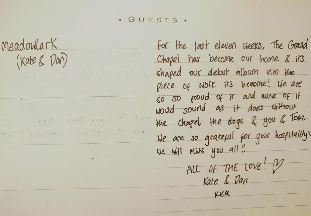Meadowlark Guestbook