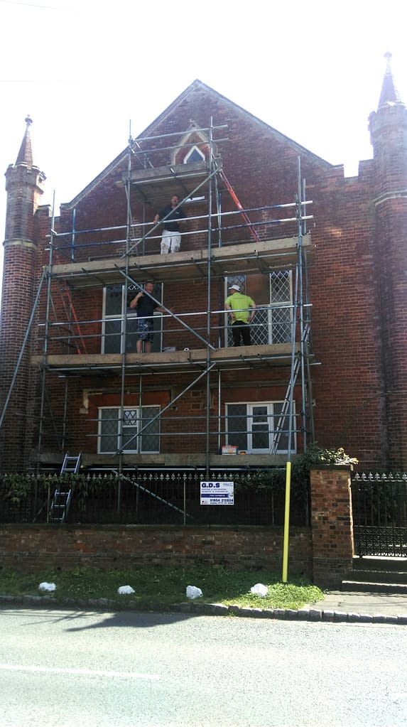 Scaffolding, North Elevation, Grand Chapel
