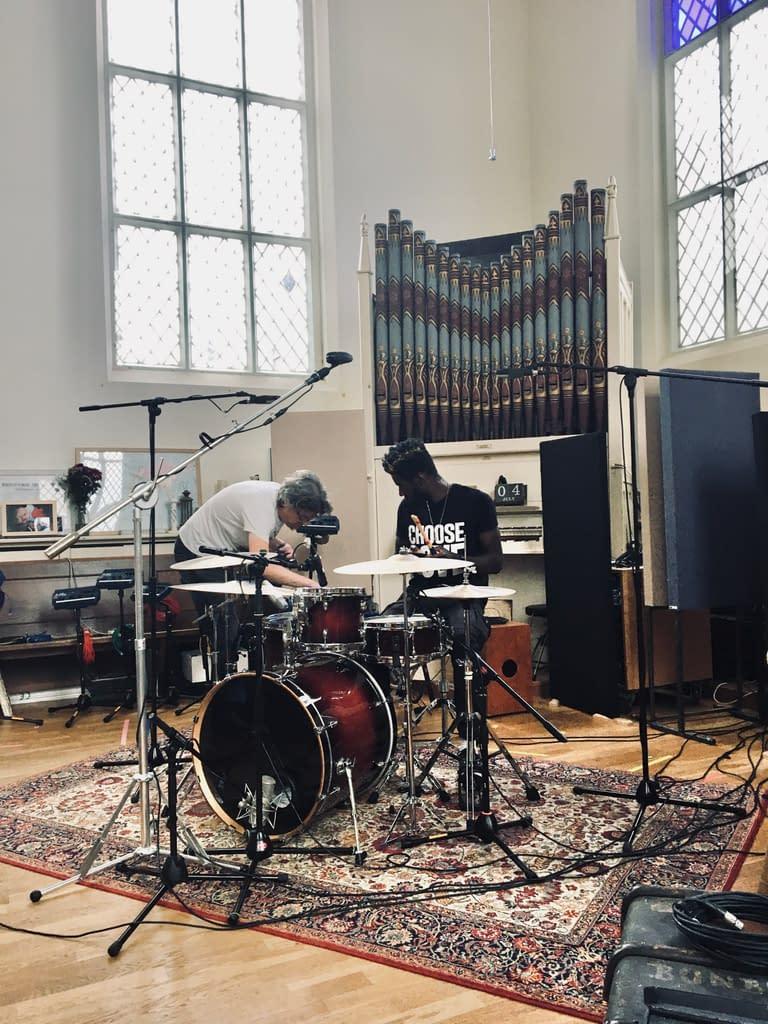 Drum Recording - setting up.