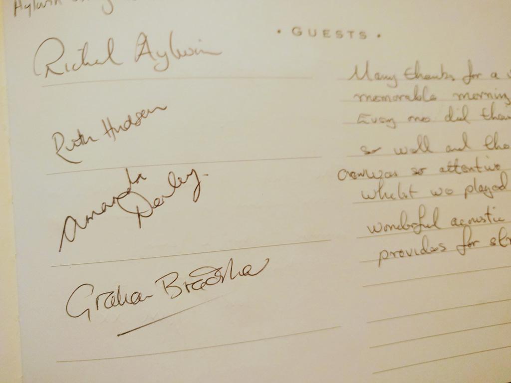 Richard Aylwin Quartet Guestbook